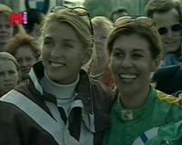SULKY RACE - WOMEN POWER CELEBRETY CHARITY HORSE RACE - News trailer -  Stefanie Voigt with 'EDELWEISS' -  CLICK PICTURE TO VIEW VIDEO