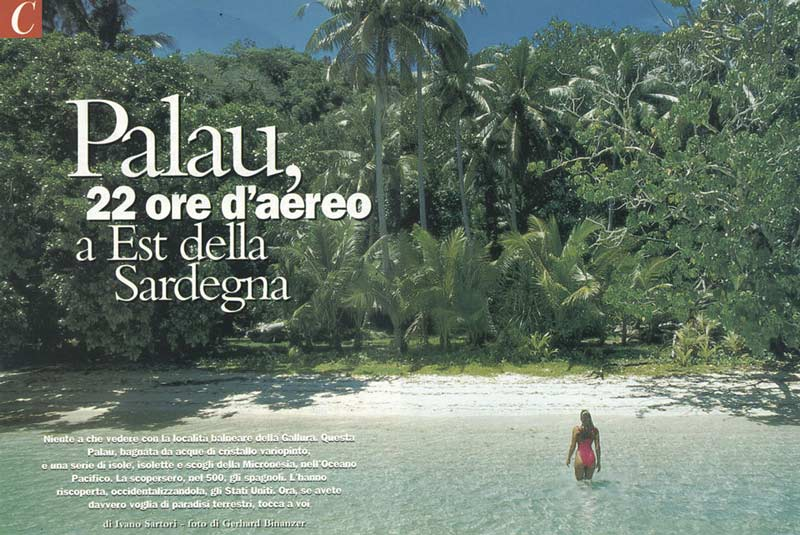 CLASS - MAGAZINE TEARSHEET -  Rock Islands -  Palau, Micronesia, Pacific Ocean ~ id# aquawoman GB011
