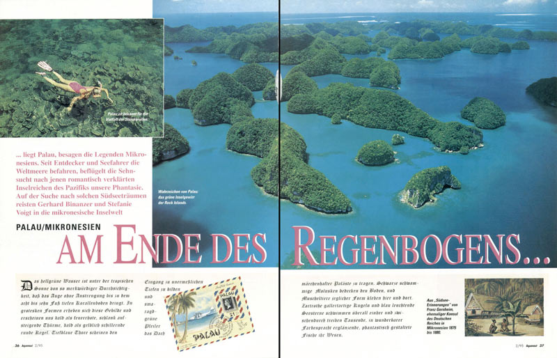 AQUANAUT - MAGAZINE TEARSHEET -  Rock Islands -  Palau, Micronesia, Pacific Ocean ~ id# aquawoman GB015