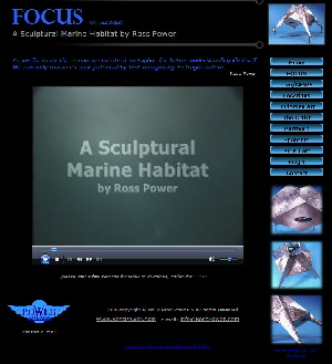 FOCUS on the ocean ~ A sculptural Marine Habitat by Ross Power ~ visit the website: www.RossPower.com